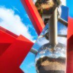 Atomium- reflet- Photowalk Métro Bruxelles